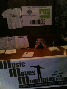 Hudson manning the MMMF table 9.12.12
