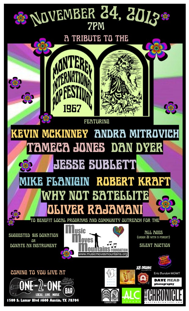 MMMF benefit 11.24.13 Tribute to Monterey Pop
